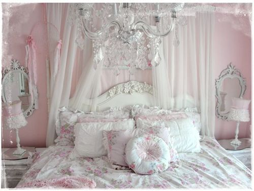 White Bed Pink Victorian Rococo Shabby Chic Bitchtini O