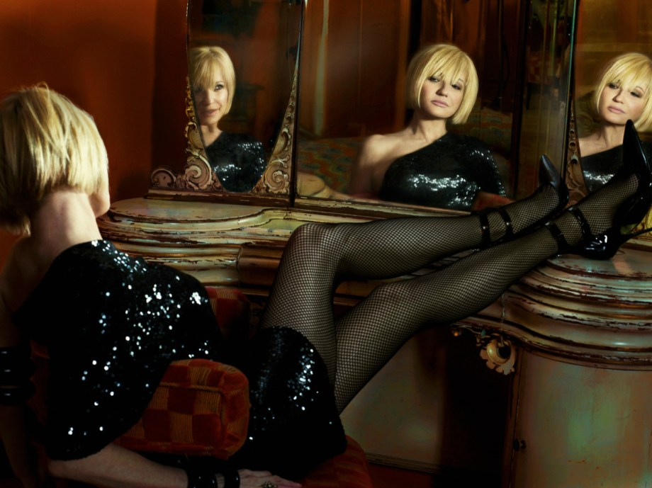 Ellen Barkin by Markus Klinko and Indrani