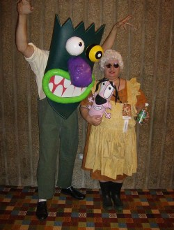 COSPLAY: Eustace + Muriel / Courage the Cowardly Dog