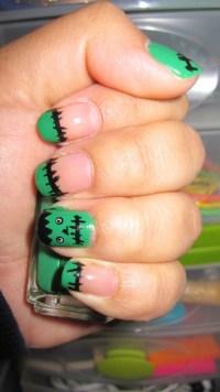 nailcrazy - Frankenstein nails!