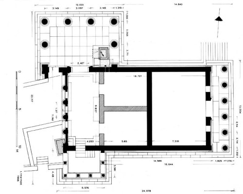 The floor plan of the Athena Nike temple, built on the acropolis in - copy construction blueprint school