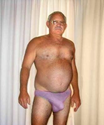 old man crotch bulge