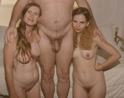 homemade mother and daughters nude threesome