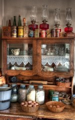 Vintage Farmhouse Kitchen Cabinet