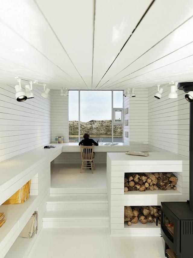 The Northernmost House: A built-in desk in the Bridge Studio overlooks the pond. For anyone who is thinking of revitalising their workspace, Ithoroughlyrecommendthis purpose built approach. I am by no means an expert, but if you have the resources, it tends to produce excellent results; there&amp;#8217;s a reason that many of the best received entries I&amp;#8217;ve posted depict integrated desks. In the end, I think it comes down to compromise. By creating a workspace within an already defined set ofconstraints, it&amp;#8217;s likely that your workflow will be constrained similarly. Conversely, by designing the constraints to fit your idealised workspace, it should work with you, rather than against you.