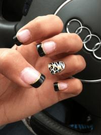 pretty nails nail art girly animal print xothea