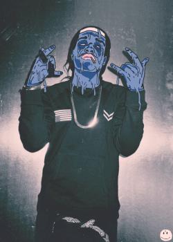 Girl Holding Money Wallpaper Swag Art Hip Hop Rap Purple America Zombie A Ap Rocky