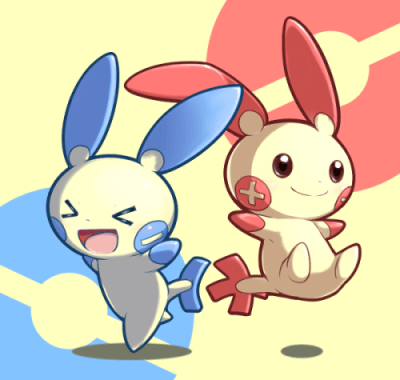 The gallery for --> Plusle And Minun Human