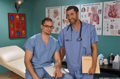 Anthony Romero and Justin Beal for Next Door Buddies, playing a pair of horny med school students.