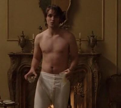 Robert Pattinson butt, ass, shirtless, naked