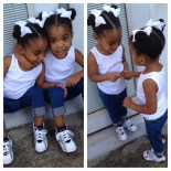 Cute Black Twin Babies With Swag