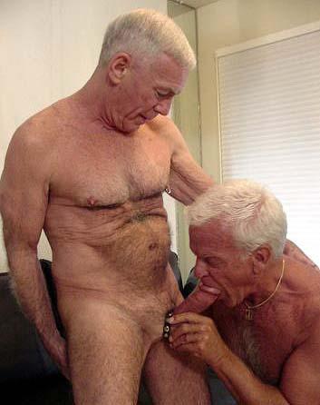 old grandpa cock close up