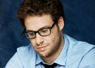 Seth Rogen, male celebrity gay facials porn
