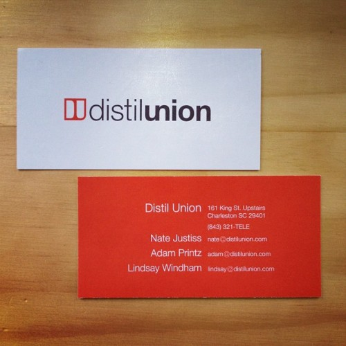 New bizness cards are new! - Distil Union