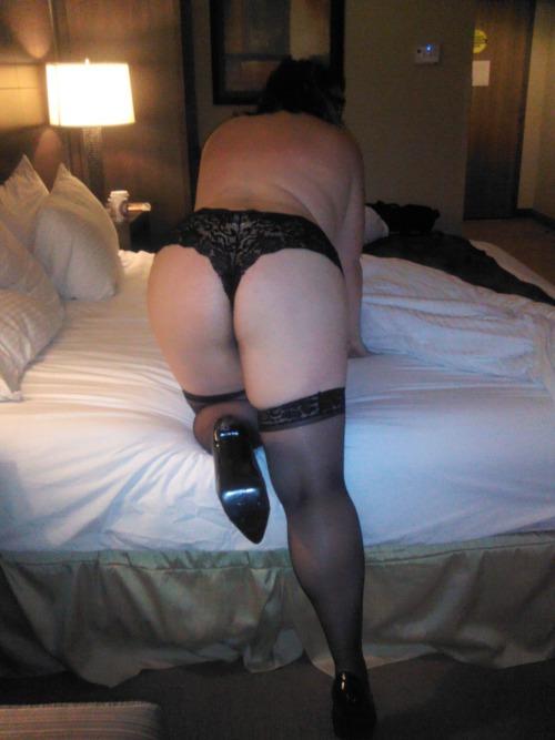 blonde wife stockings