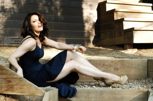 Fall Path Wallpaper Bellamy Young For Regard Magazine October 2012