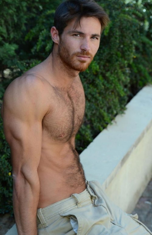 Arnaud Dehaynin speedo sexy shirtless pic, hairy chest