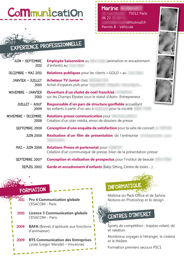 orientation client cv exemple