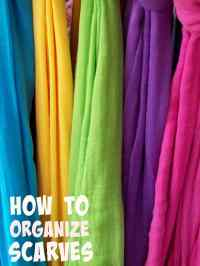 How to Organize Scarves in a Closet to Reduce Clutter