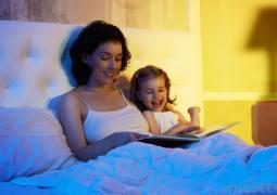 mother-and-child-reading-in-bed