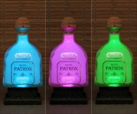 750ml Patron Silver Tequila Color Changing LED Bottle Lamp ...