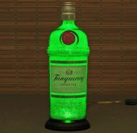 Tanqueray Gin Bottle Lamp/Bar Light-VIDEO DEMO-11 Year LED ...