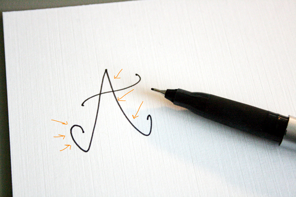 how to create fake calligraphy (tutorial + practice worksheets)
