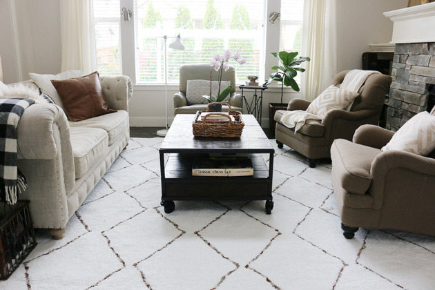 why I found a new rug for the living room Jones Design Company - living room shag rug