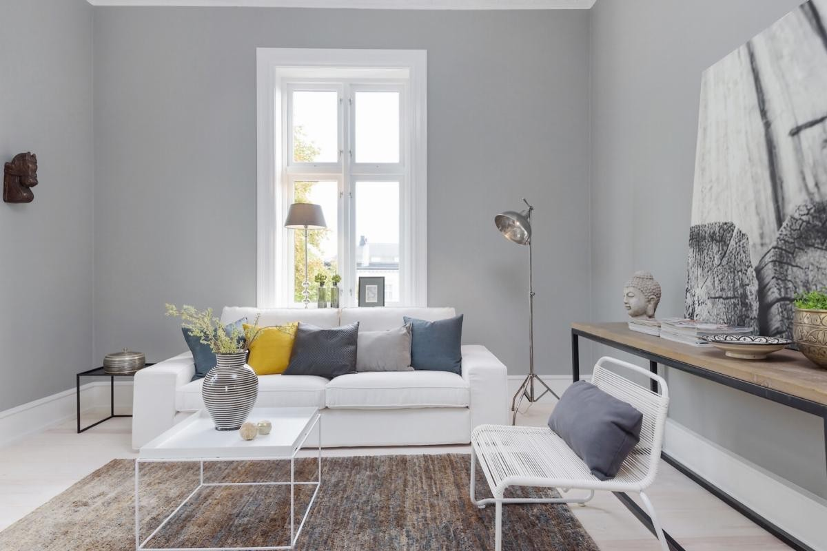 Scandinavian Ready Made Curtains Interior Inspiration Grey And Yellow As Seen In Scandinavian