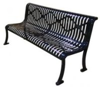 Horizontal Slatted Bench | It provides a unique, high-tech ...
