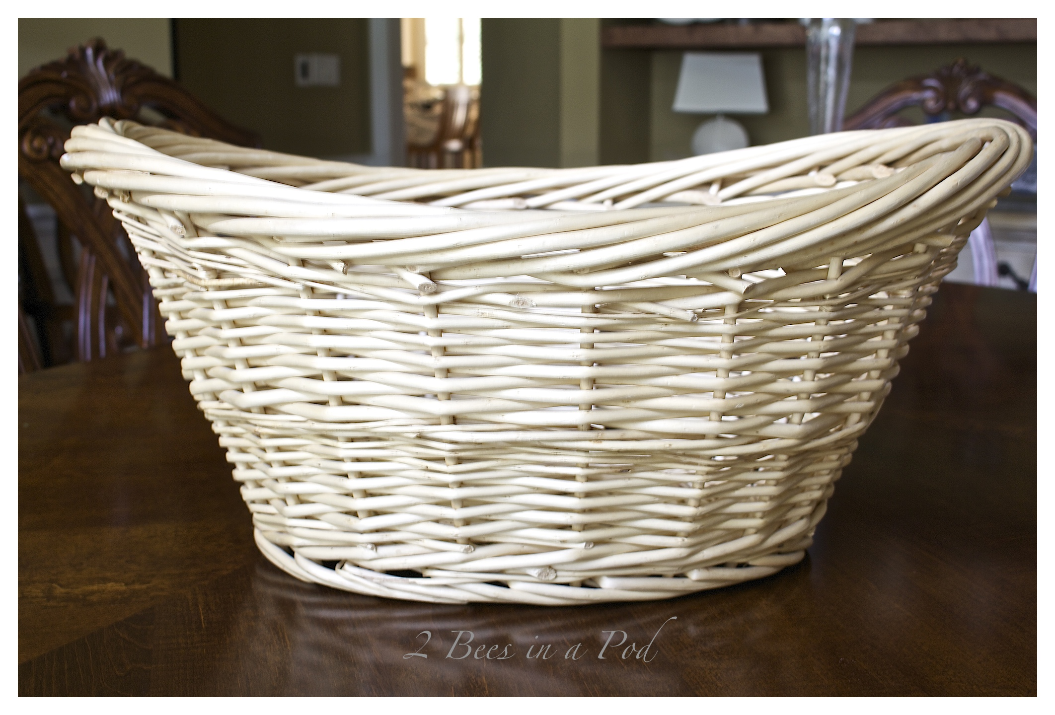 Wicker Laundry Baskets Diy Gray Washed Wicker Laundry Basket 2 Bees In A Pod