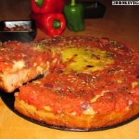 Gluten Free Vegan Deep Dish Pizza - Chicago Style