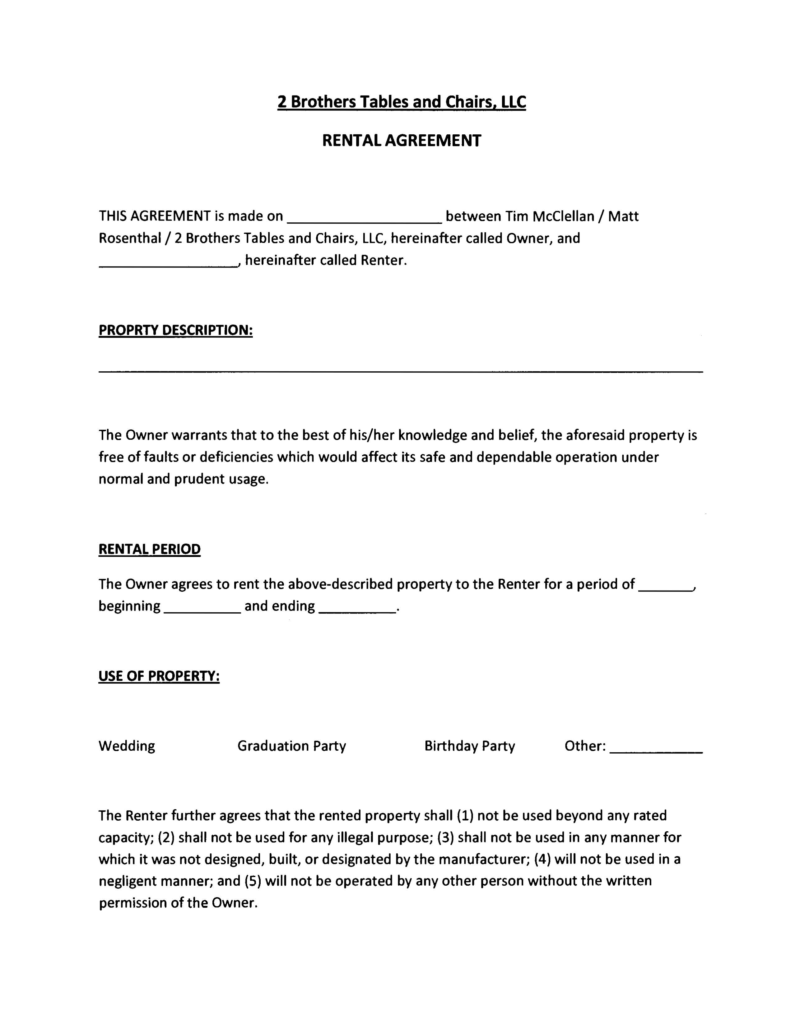 Property Management Agreement Example – Management Agreement