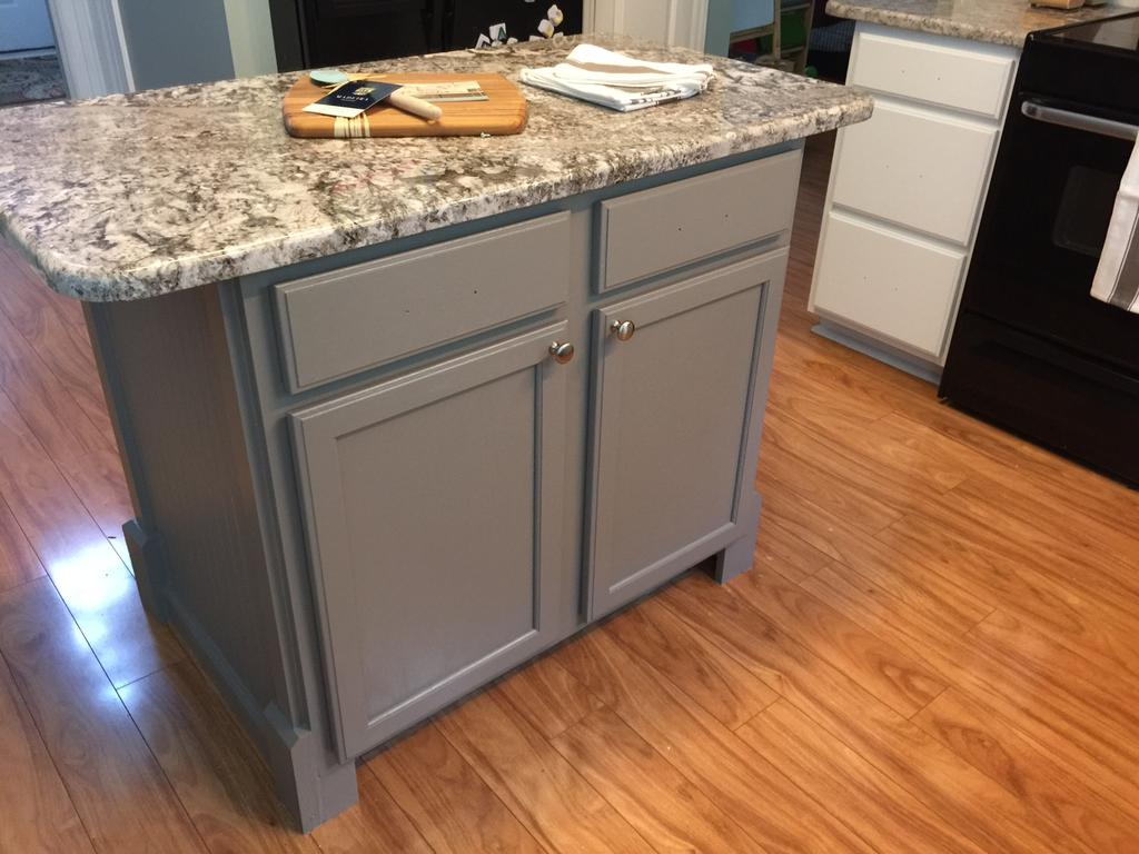 Houzz Kitchen Backsplash Pure White Cabinets With Dovetail Gray Island - 2 Cabinet