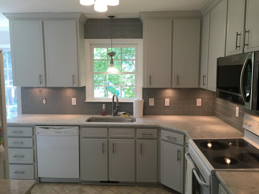 Kitchen Cabinet Hardware For White Cabinets Gray Owl Update - 2 Cabinet Girls