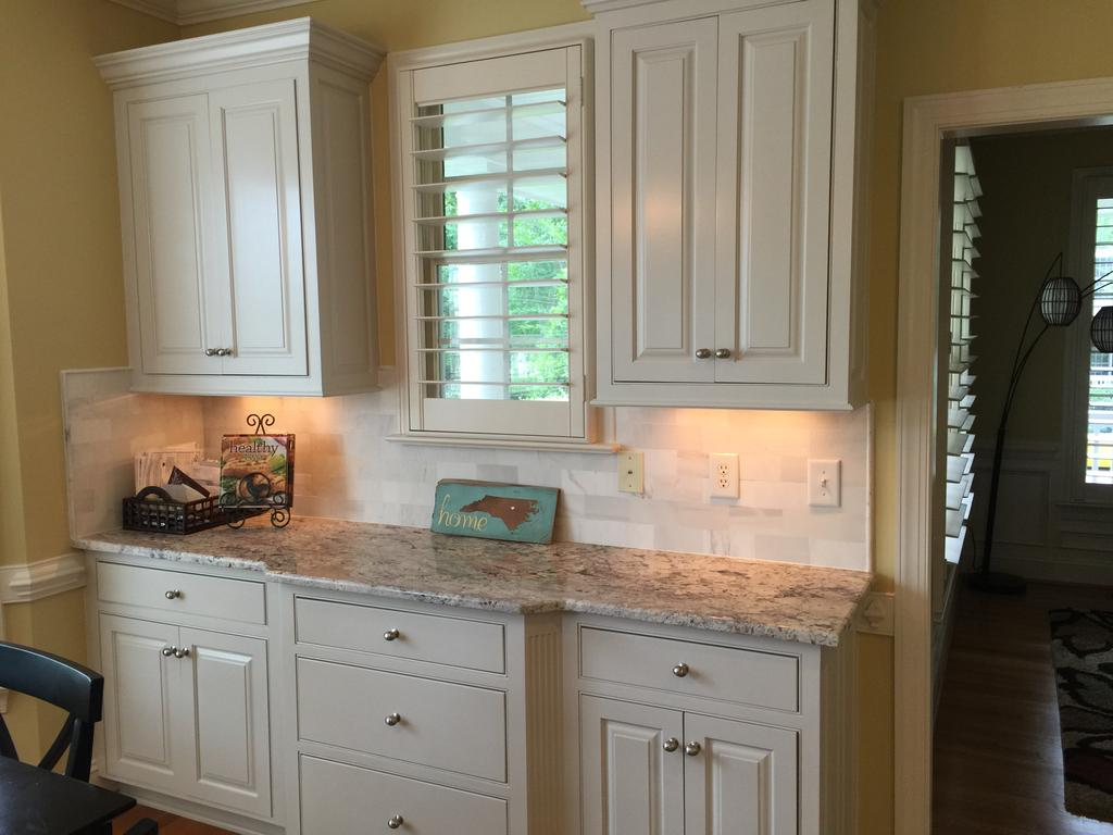 Granite Kitchen Island Pictures Balboa Mist Kitchen Update - 2 Cabinet Girls