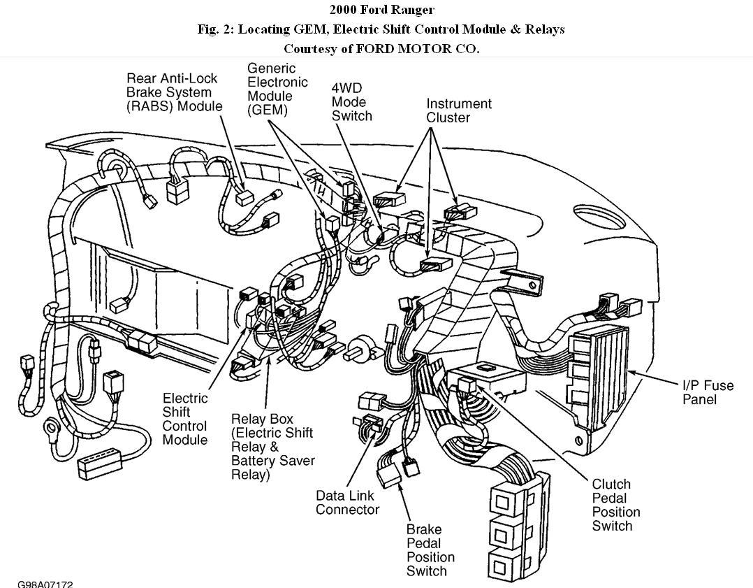 2000 ford ranger brake wiring harness