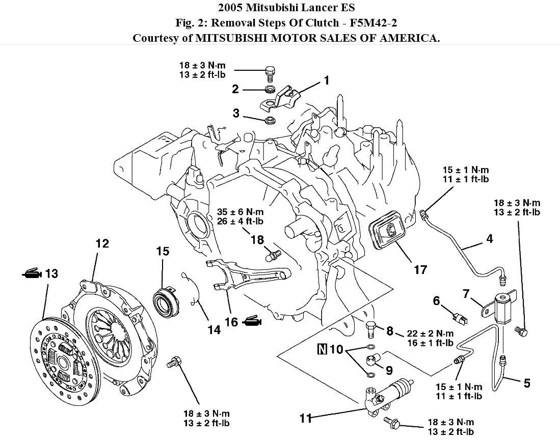 2002 mitsubishi engine diagram clutch