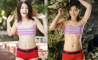 【画像】同じ水着の女の子を並べてみたwwwww