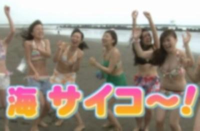 【画像】テレビに映った素人『巨 乳』水着女子で打線くんだ