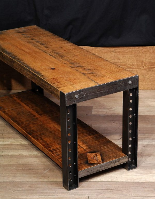 Meuble Tv Industriel Roulette Banc Ou Table De Salon / Bench Or Table - 2 Chance Deco