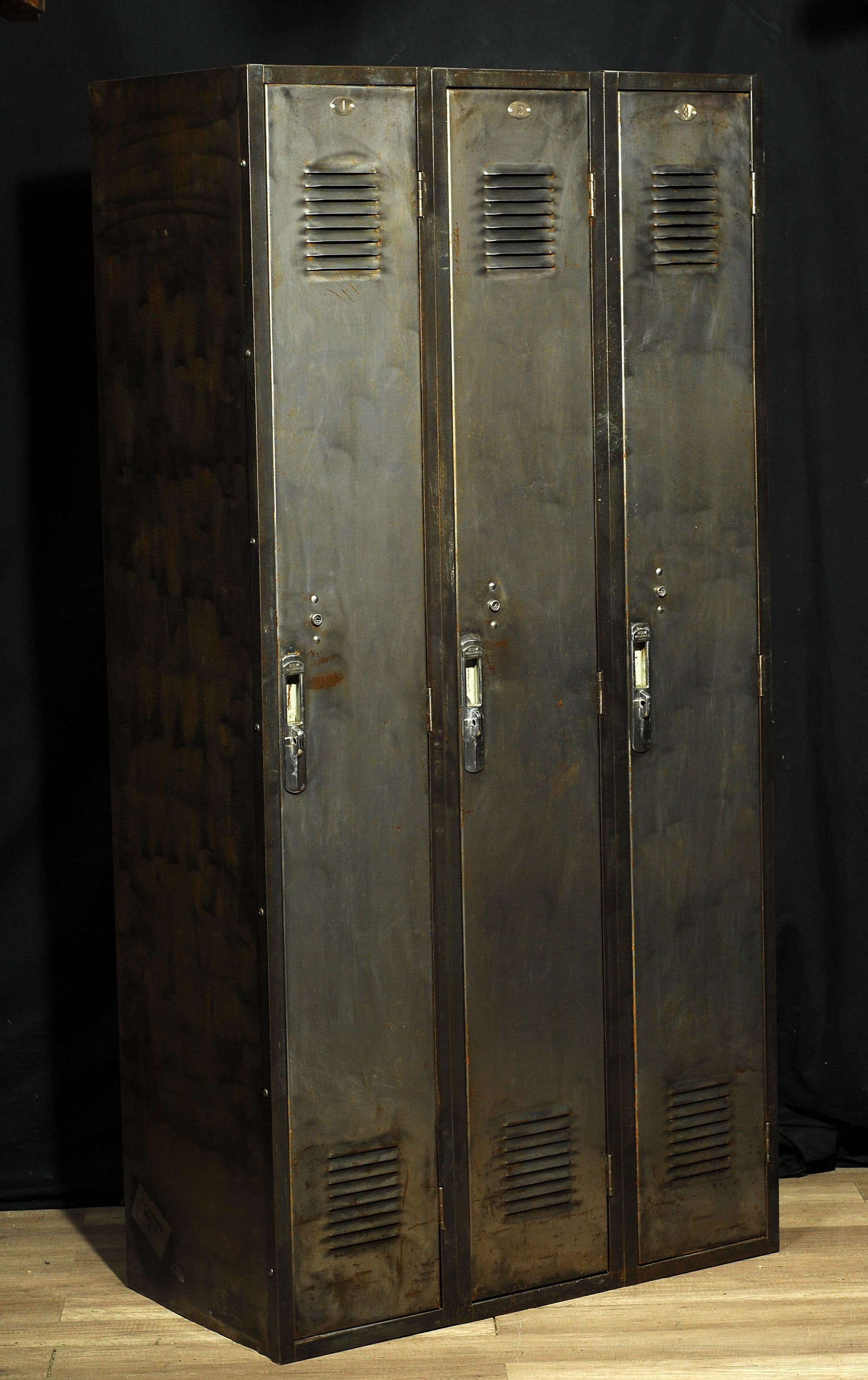 Casier Industriel Antique Metal Industrial Locker Steel 2 Chance Deco
