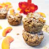 Peach Almond Oatmeal Muffins square2