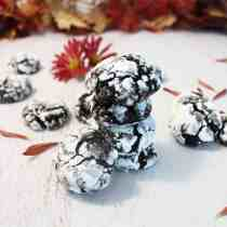 Double Chocolate Crinkle Cookies square3