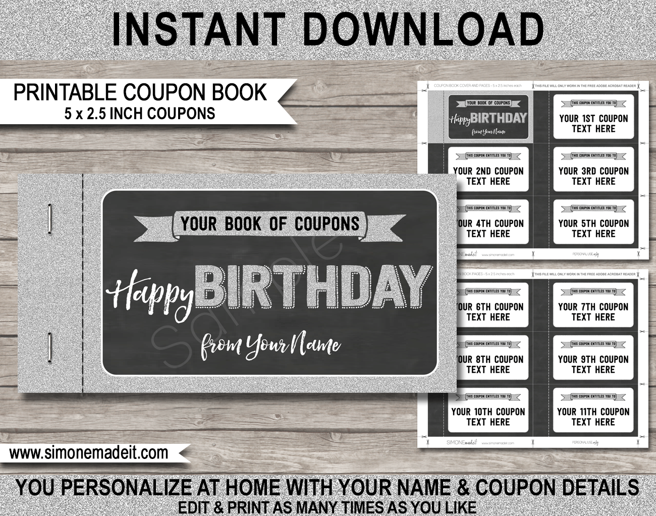 personalized coupon book template