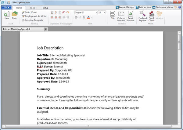 Job Description Writing Software Create Job Descriptions  Attract