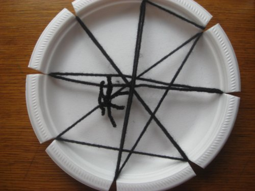 Spider Web Plate Craft Easy Halloween Craft Ideas Kindergarten