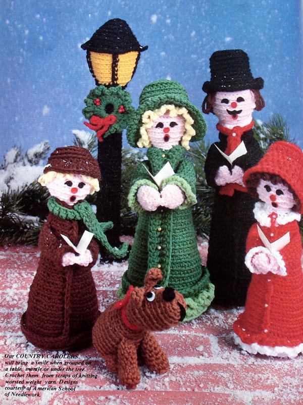 Crochet Easy Ornaments 2good2lose - christmas carolers decorations