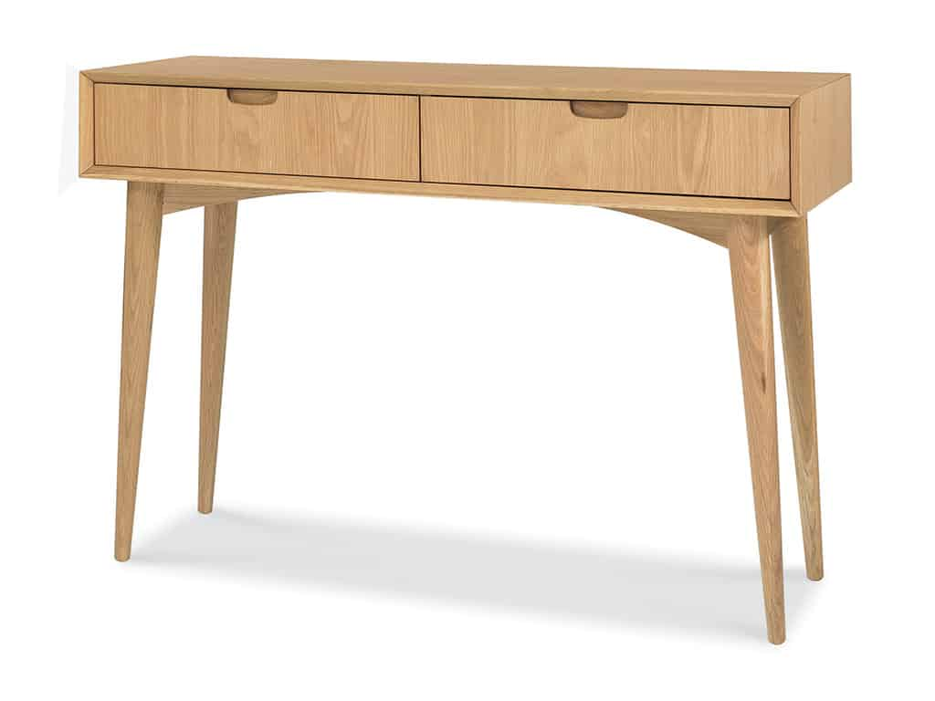 Sofa Side Table With Drawer Oslo Sofa Table 2 Drawer Oak