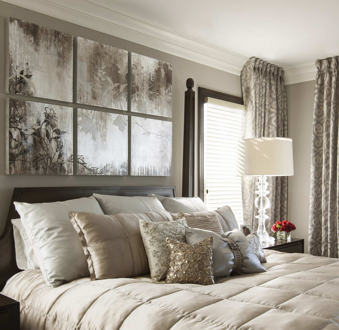 Hampton Style Bedrooms Hamptons Inspired Luxury Home Master Bedroom Robeson